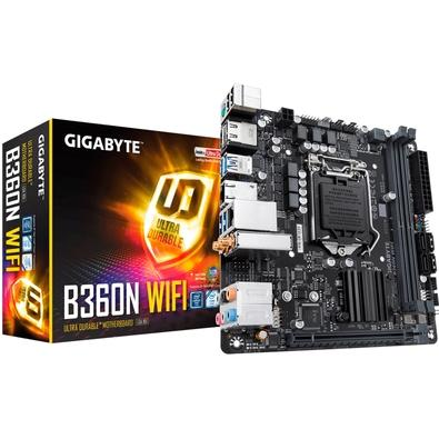 Placa-Mãe Gigabyte B360N WiFi, Intel LGA 1151, Mini-ITX, DDR4 (Rev. 1.0)