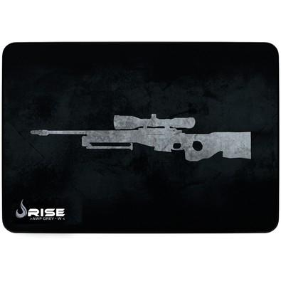 Mousepad Gamer Rise Mode Sniper, Speed, Médio (290x210mm), Cinza - RG-MP-04-SPG