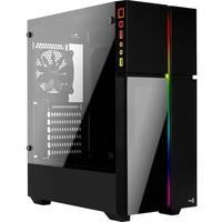 Gabinete Gamer Aerocool Playa, Mid Tower, RGB, 1 Cooler, Lateral e Frontal em Vidro