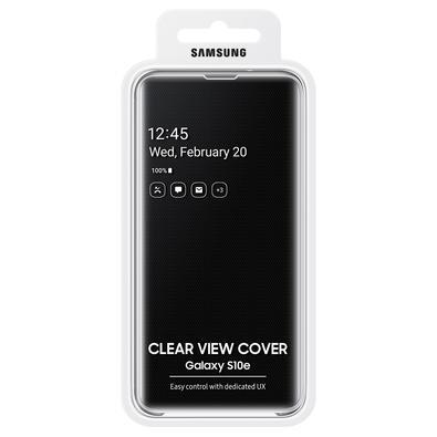 Capa Protetora Samsung Clear View Standing para Galaxy S10e, Preta - EF-ZG970CBEG