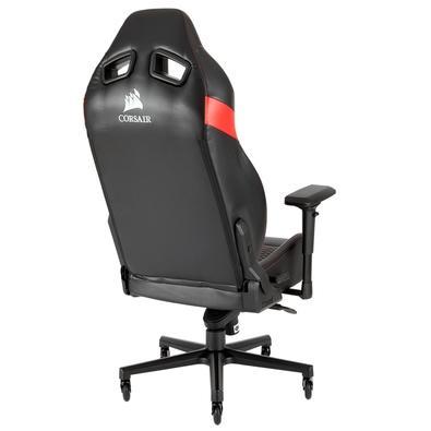 Cadeira Gamer Corsair T2 Road Warrior, Preto/Vermelho - CF-9010008