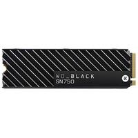 SSD WD Black SN750 Heatsink, 500GB, M.2 NVMe, Leitura 3470MB/s, Gravação 2600MB/s - WDS500G3XHC