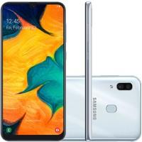 Smartphone Samsung Galaxy A30, 64GB, 16MP, Tela 6.4´, Branco - SM-A305GT/6DL