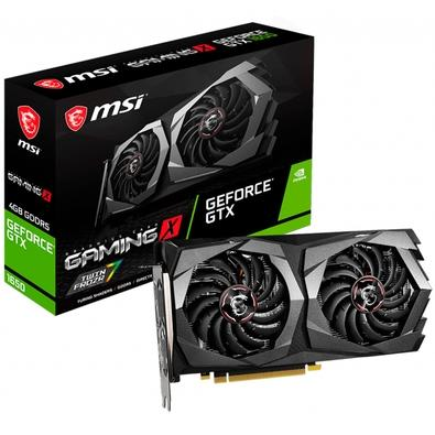 Placa de Vídeo MSI NVIDIA GeForce GTX 1650 Gaming X 4G, GDDR5