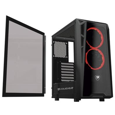 Gabinete Gamer Cougar Turret, Mid Tower, 2 FANs, Lateral e Frontal em Vidro - 385QMY0.0001