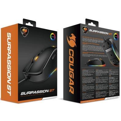 Mouse Gamer Cougar Surpassion ST, RGB, 6 Botões, 3200DPI