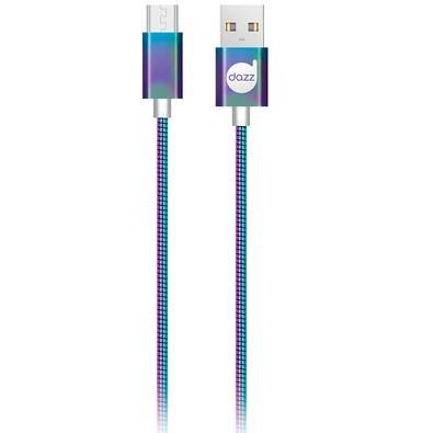 Cabo Micro USB Dazz 91cm, Metal Entrelaçado, Colorido - 6013691