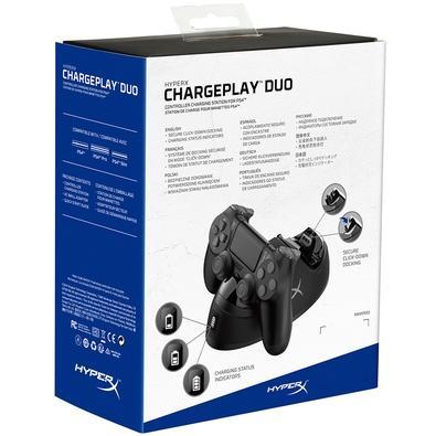ChargePlay Duo HyperX Carregador para Controle PS4 Dualshock 4, 2 Portas - HX-CPDU-C