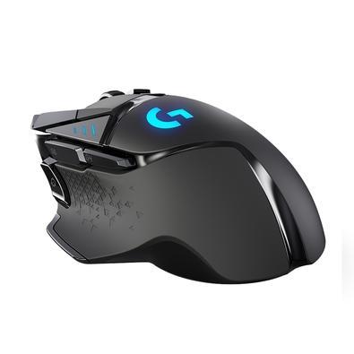 Mouse Sem Fio Gamer Logitech G502 Hero 16k  Lightspeed, Recarregável, RGB Lightsync, 11 Botões, 16000DPI - 910-005566