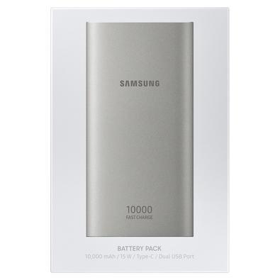Carregador Portátil Samsung USB Tipo C, 10.000 mAh, Prata - EB-P1100CSPGBR