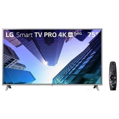 Smart TV LED 75´ 4K LG, 4 HDMI, 2 USB, Bluetooth, Wi-Fi, Active HDR, ThinQ AI - 75UM751C0SB.AWZ