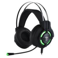 Headset Gamer T-Dagger Andes, Drivers 40mm, Preto e Verde - T-RGH300