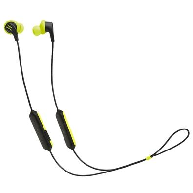 Fone de Ouvido Bluetooth Esportivo JBL Endurance Run BT, Com Microfone, Preto e Verde - JBLENDURRUNBTBNL
