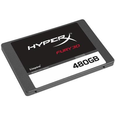 SSD HyperX Fury 3D, 480GB, SATA, Leitura 500 MB/s, Gravação 500 MB/s - KC-S44480-6F