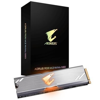 SSD Aorus RGB 256GB, M.2 NVMe, Leituras: 3100MB/s e Gravações: 1050MB/s - GP-ASM2NE2256GTTDR