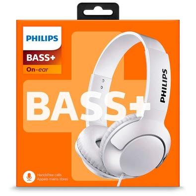 Headphone Philips Bass+, P2, Branco - SHL3075WT/00