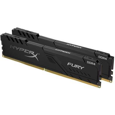 Memória HyperX Fury, 32GB (2x16GB), 2400MHz, DDR4, CL15, Preto - HX424C15FB3K2/32