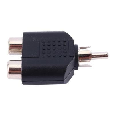 Adaptador Plug MD9 2 RCA Fêmea x 1 RCA Macho Estéreo - 5234