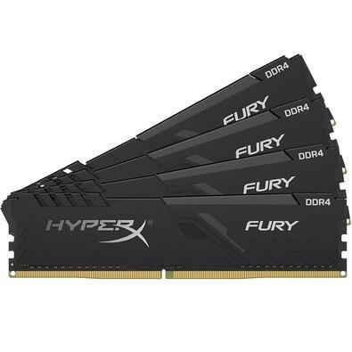 Memória Ram Fury 64gb Kit(4x16gb) Ddr4 3000mhz Hx430c15fb3k4/64 Hyperx