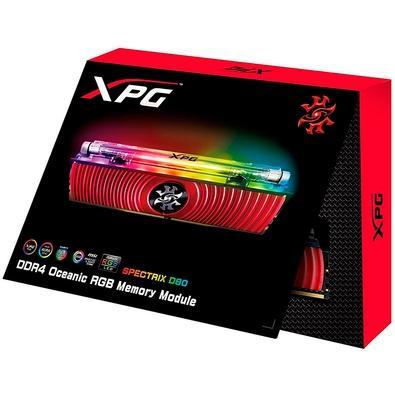 Memória XPG Spectrix D80 RGB 16GB, 3000MHz, DDR4, CL16, Vermelho - AX4U3000316G16-SR80