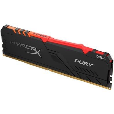 Memória HyperX Fury RGB, 8GB, 3466MHz, DDR4, CL16, Preto - HX434C16FB3A/8