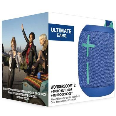 Caixa de Som Bluetooth Ultimate Ears WONDERBOOM 2 Portátil e À Prova D´Água - Até 13 horas de Bateria - Azul - 984-001557