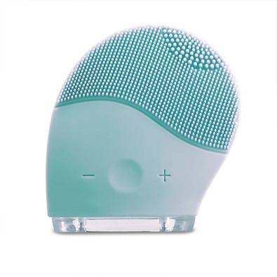 Escova Sônica para Massagem Facial Multilaser Bella, Resistente à Água, Recarregável, Verde Água - HC182