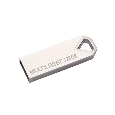 Pen Drive Multilaser Diamond, 128GB, Metálico - PD853