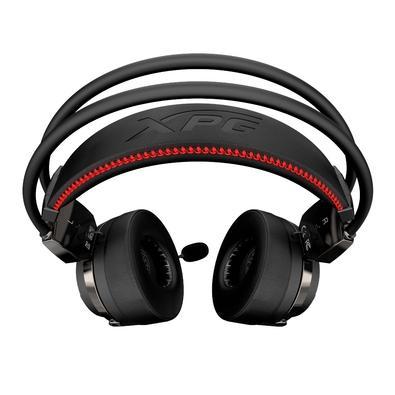 Headset Gamer XPG Precog, LED Vermelho, 7.1 Som Surround, Driver Dinâmico 40mm