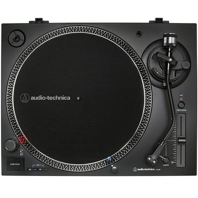 Toca Discos Audio Technica, Acionamento Direto, Analógico e Digital (USB), Bivolt, Preto - AT-LP120XUSB-BK