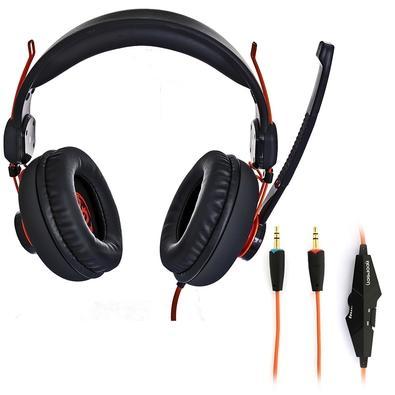 Headset Gamer Hoopson, Drivers 40mm, Preto/Laranja - GA-X3