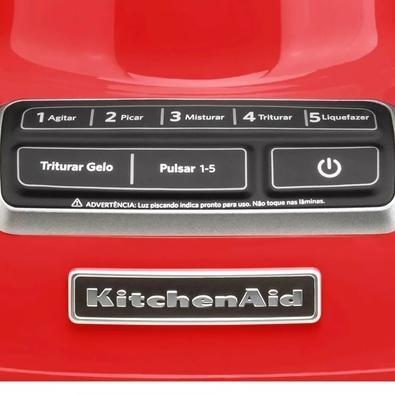 Liquidificador KitchenAid Diamond, 5 Velocidades, 650W, 220V, Empire Red - KUA15AVBNA