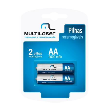 Multilaser Pilha Recarregável AA - Pack c/ 2 - CB053