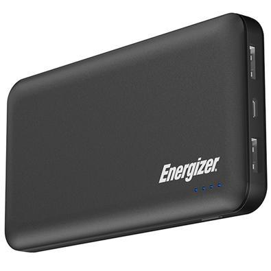 Power Bank Energizer UE10025QC High-Tech, 10000mAh, 2 USB, Cabo Micro USB, Preto - UE10025QCBK