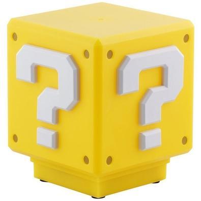 Action Figure Luminária Nintendo Super Mario Bros, Mini Question Block com Som - 29509