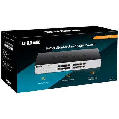 Switch D-Link 16 Portas 10/100/1000Mbps - DGS-1016C