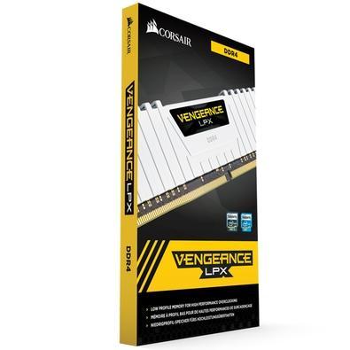 Memória Corsair Vengeance LPX, 16GB (2x8GB), 3000MHz, DDR4, CL16, Branco - CMK16GX4M2D3000C16W