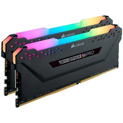Memória Corsair Vengeance RGB Pro, 16GB (2x8GB), 3600MHz, DDR4, CL18 - CMW16GX4M2Z3600C18