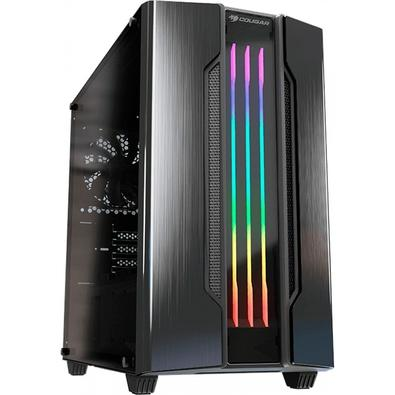 Gabinete Gamer Cougar Gemini M Iron Gray, Mini Tower, RGB, com FAN, Lateral em Vidro - 385TMB0-0001
