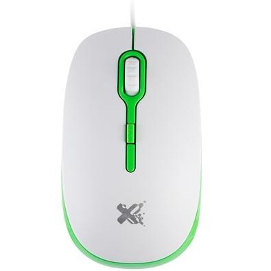 Mouse Maxprint Soft Colors, Branco e Verde - 6013050