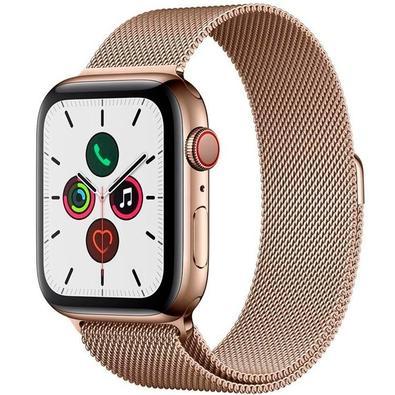 Apple Watch Series 5, GPS, 44mm, Dourado, Pulseira Dourada - MWWJ2BZ/A