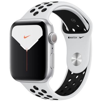 Apple Watch Nike Series 5, GPS, 44mm, Prata, Pulseira Cinza - MX3V2BZ/A