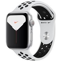 Apple Watch Nike Series 5, GPS, 44mm, Prata, Pulseira Cinza - MX3V2BZ/A