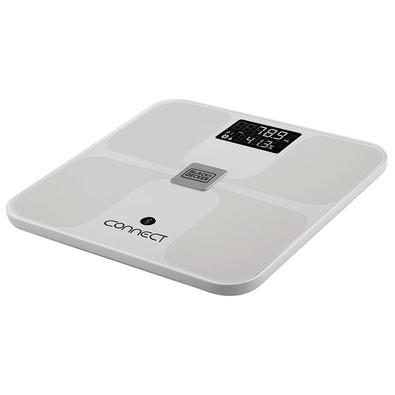 Balança de Banheiro de Bioimpedância Black + Decker, Vidro, Até 150kg, Bluetooth, Medição de Índices Corporais - BK75-BR