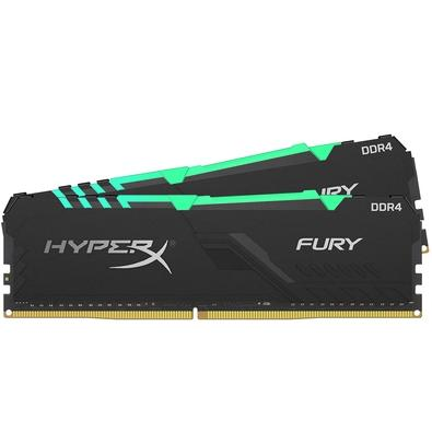 Memória HyperX Fury RGB, 32GB (2x16GB), 3600MHz, DDR4, CL17, Preto - HX436C17FB3AK2/32