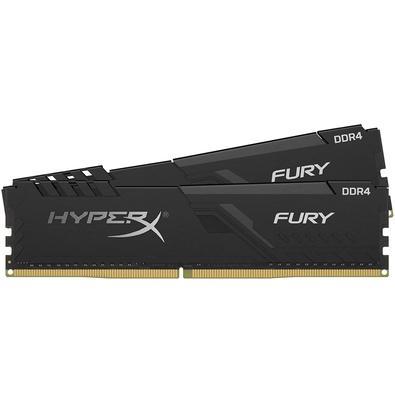 Memória HyperX Fury, 64GB (2x32GB), 2666MHz, DDR4, CL16, Preto - HX426C16FB3K2/64