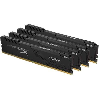 Memória HyperX Fury, 32GB (4x8GB), 3600MHz, DDR4, CL17, Preto - HX436C17FB3K4/32