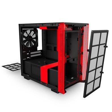Gabinete Gamer NZXT H210i, Mid Tower, RGB, com FAN, Lateral em Vidro, Preto/Vermelho - CA-H210I-BR