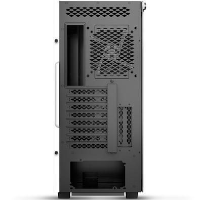 Gabinete Gamer Deepcool Macube 550 WH, Mid Tower, com FAN, Lateral em Vidro, Branco - GS-ATX-MACUBE550-WHG0P