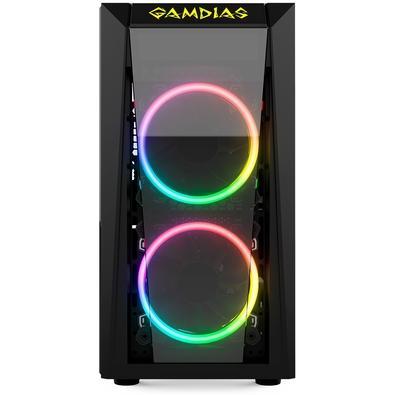 Gabinete Gamer Gamdias Talos E1, Mid Tower, RGB, com FAN, Lateral em Vidro - TALOS E1